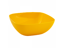 Тарілка глибока 150*150*55мм. (тобто жовта)