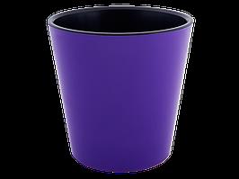 """Вазон """"Деко"""" з вст.16*15,5 див. (_т.фіолетовий/чорний)"""