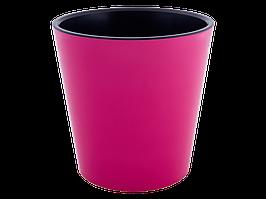 """Вазон """"Деко"""" з вст.16*15,5 див. (_т.рожевий/чорний)"""