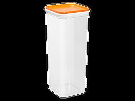 """Емкость для сыпучих продуктов """"Фикс"""" 2,25л. (_пр./св.-оранж.)"""