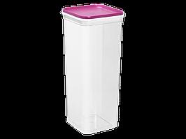 """Емкость для сыпучих продуктов """"Фикс"""" 2,25л. (_пр./т.розовая)"""
