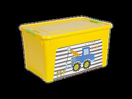 "Контейнер ""Smart Box"" с декором My Car 27л. (_т.жёлт./т.жёлт./оливк.)"