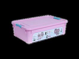 """Контейнер """"Smart Box"""" с декором Pet Shop 14л. (_роз./роз./бирюз.)"""