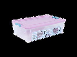 "Контейнер ""Smart Box"" с декором Pet Shop 14л. (_пр./роз./бирюз.)"