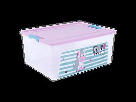 "Контейнер ""Smart Box"" с декором Pet Shop  7,9л. (_пр./роз./бирюз.)"