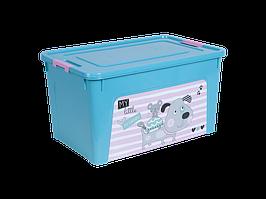 "Контейнер ""Smart Box"" с декором Pet Shop 27л. (_бирюз./бирюз./роз.)"