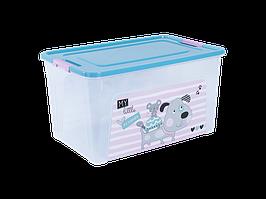 "Контейнер ""Smart Box"" с декором Pet Shop 27л. (_пр./бирюз./роз.)"