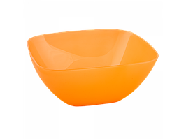 Салатница 240*240*95мм. (оранж. пр.)