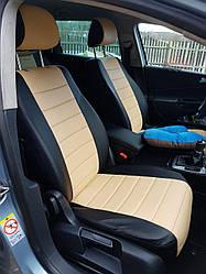 Чехлы на сиденья Ниссан Тиида (Nissan Tiida) (модельные, экокожа Аригон, отдельный подголовник)