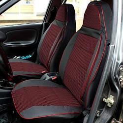 Чехлы на сиденья Пежо Партнер (Peugeot Partner) (1+1,универсальные, автоткань, пилот)