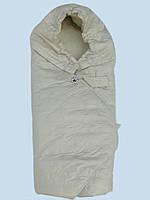 Одеяло конверт для выписки и прогулок на овчине.
