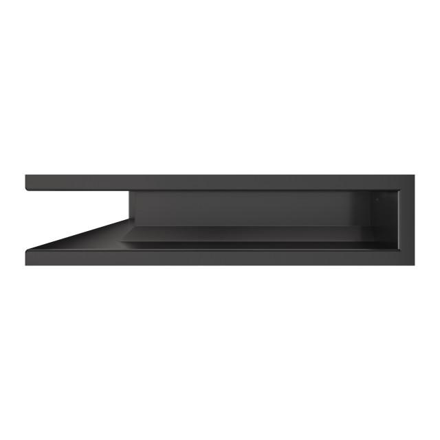 Вентиляційна решітка для каміна кутова ліва SAVEN Loft Angle 90х400х600 графітова