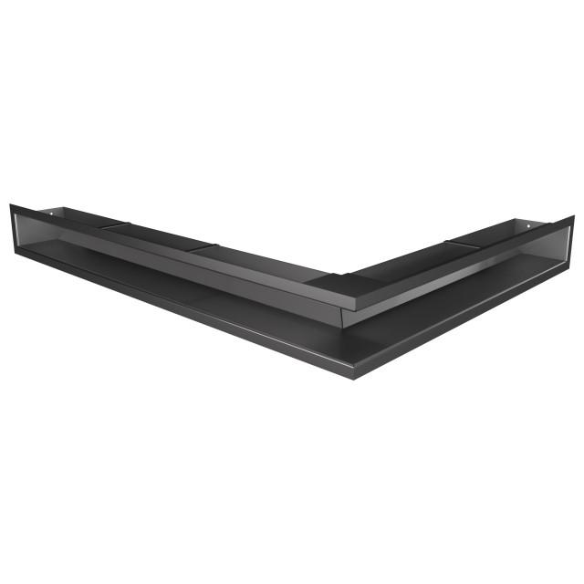 Вентиляційна решітка для каміна кутова ліва SAVEN Loft Angle 90х600х800 графітова