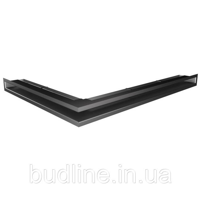 Вентиляційна решітка для каміна кутова права SAVEN Loft Angle 60х800х600 графітова