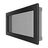 Вентиляційна решітка для каміна SAVEN 17х30 чорна, фото 2