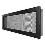 Вентиляційна решітка для каміна SAVEN 17х49 чорна, фото 2