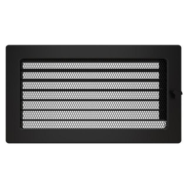 Вентиляційна решітка для каміна SAVEN 17х30 чорна з жалюзі