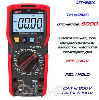 UT89X, профессиональный мультиметр TrueRMS