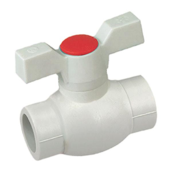 Кран шаровый PPR КШ (бабочка) для горячей воды 25 (K0182.PRO) (KP0235)