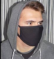 Две маски чёрные многоразовые, фото 1
