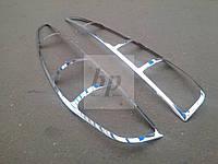 Хром накладки на стопы (задние фары) Mercedes-benz vito (w639) (мерседес-бенц вито) 2004г+
