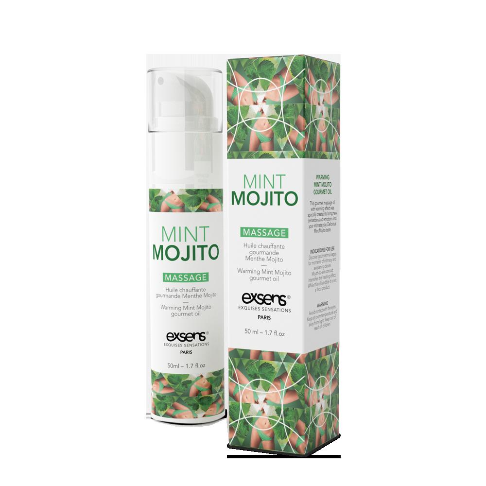 Массажное масло EXSENS Mojito 50мл разогревающее, без сахара, без парабенов, съедобное