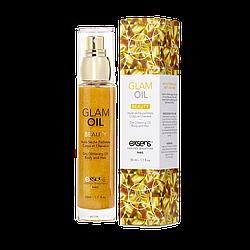 Масло для тела с блеском EXSENS Glam Oil 50мл, с маслом миндаля, без парабенов и феноксиэтанола