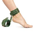 Премиум поножи LOVECRAFT зеленые, натуральная кожа, в подарочной упаковке, фото 3
