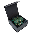 Премиум поножи LOVECRAFT зеленые, натуральная кожа, в подарочной упаковке, фото 4