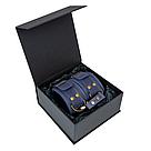 Премиум поножи LOVECRAFT голубые, натуральная кожа, в подарочной упаковке, фото 4