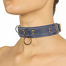 Премиум ошейник LOVECRAFT размер S голубой, натуральная кожа, в подарочной упаковке, фото 2
