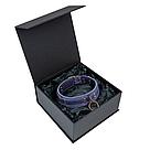 Премиум ошейник LOVECRAFT размер S голубой, натуральная кожа, в подарочной упаковке, фото 4