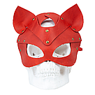 Премиум маска кошечки LOVECRAFT, натуральная кожа, красная, подарочная упаковка, фото 4