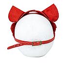 Премиум маска кошечки LOVECRAFT, натуральная кожа, красная, подарочная упаковка, фото 5