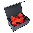 Премиум маска кошечки LOVECRAFT, натуральная кожа, красная, подарочная упаковка, фото 6