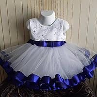 Детское нарядное бальное платье на 1 годик