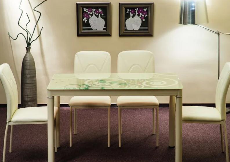 Стол Damar + 4 стула  H-623
