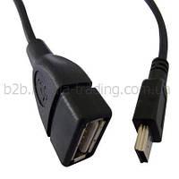 Кабель ATCOM USB2.0 AF -> mini-B 5P OTG 0.1m