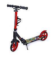 Самокат детский двухколесный для девочки 7 8 9 лет Scooter Scale Sports SS-15 черно-красный, фото 1