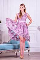 Кружевное ассиметричное платье на выпускной (S)