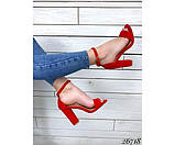 Босоножки на устойчивом каблуке, фото 4