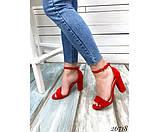Босоножки на устойчивом каблуке, фото 5