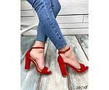 Босоножки на устойчивом каблуке, фото 6