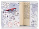 Кожаная обложка на паспорт Travel, фото 2