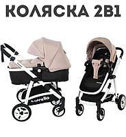 Коляска . Дитячі коляски трансформер 2в1, Люлька-Прогулка . Від 0-3 років. Дощовик в подарок.