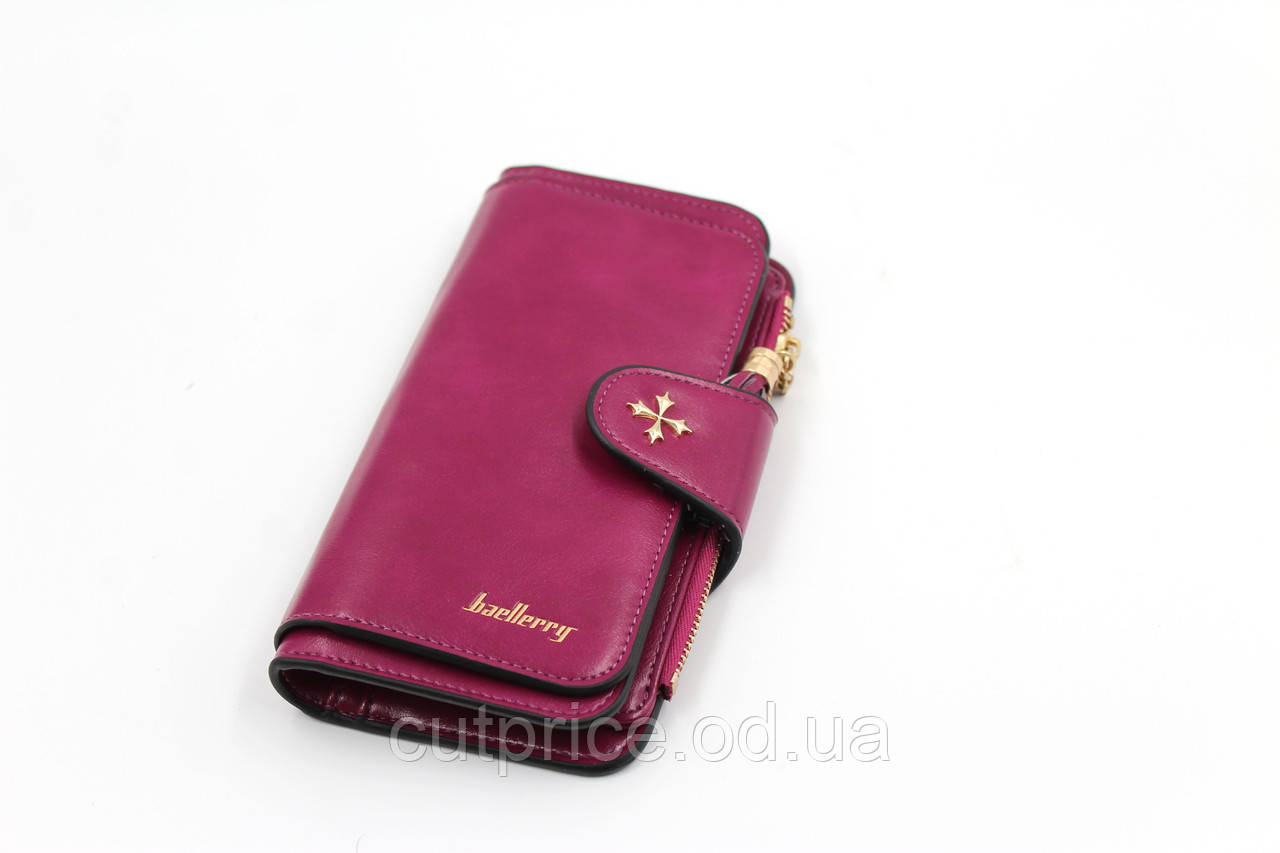 Кошелек Baellerry N2341  фиолетовый, темно бордовый (360)в упак. 30шт.