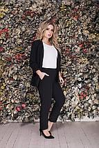 """Стильные женские брюки высокой посадки """"Бенита"""" с карманами (большие размеры), фото 2"""
