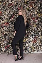 """Стильные женские брюки высокой посадки """"Бенита"""" с карманами (большие размеры), фото 3"""