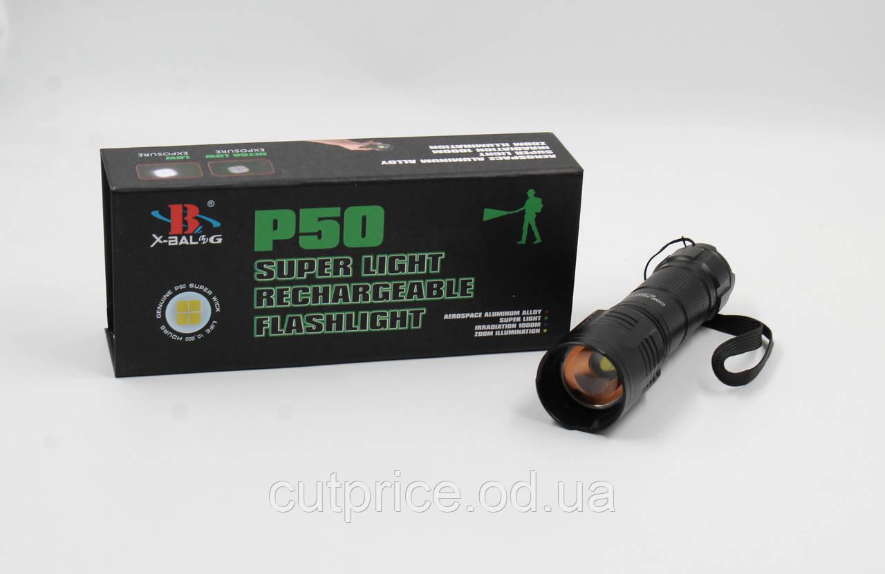 Фонарик BL 8900-P50 1*18650 battery (120) 30шт./уп.