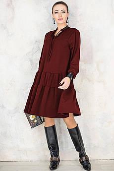 Модные платья Палома бордового цвета